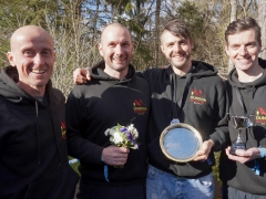Hoka Highland Fling Ultramarathon Relay - Dunoon Hill Runners winning team