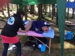 First relay leg done - massage time