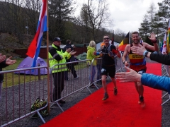 Kevin and Ricky cross finishing