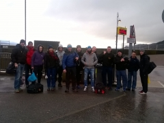 Some of Team DHR about to board ferry