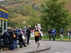 Kevin Nairn speeds along the marathon route