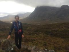 Kirsty Mundell mid-marathon