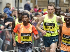 Haile Gebrselassie, Michael Shelley and Stephen Mokoka
