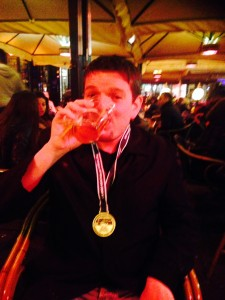 Jamie celebrates