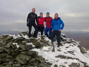 Ian, Morven, David and Jamie on Beinn Ime