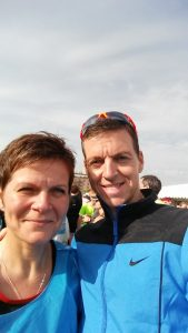 Roger and Kristine Stewart at Copenhagen Marathon